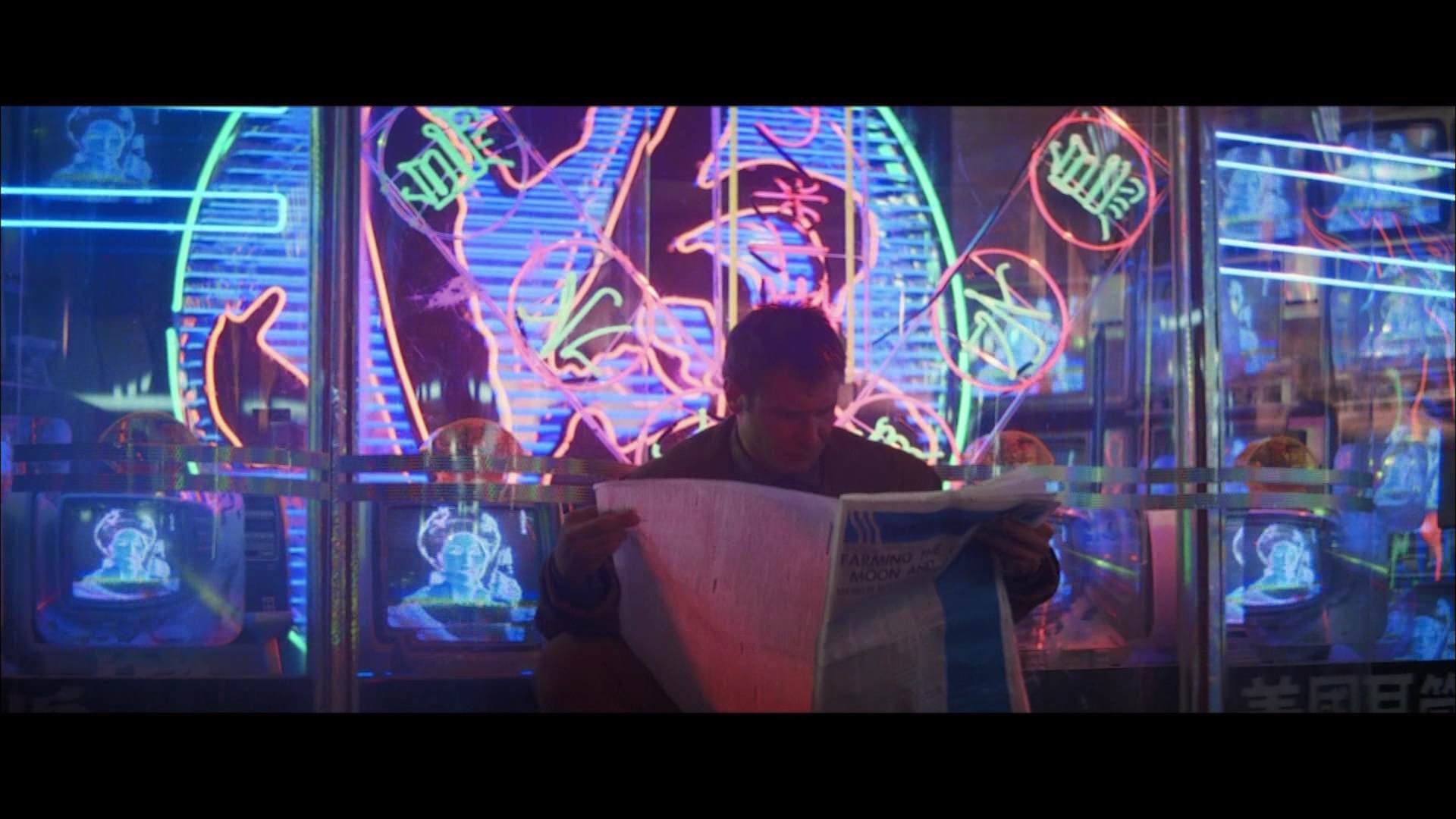 Film harrison ford black and white neon signs exblad for Blade runner